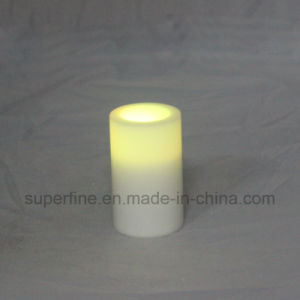Cute Pillar Multicolor Holiday Outdoor Wedding Decorative Luminary Flameless LED Candle Can Drain Water pictures & photos