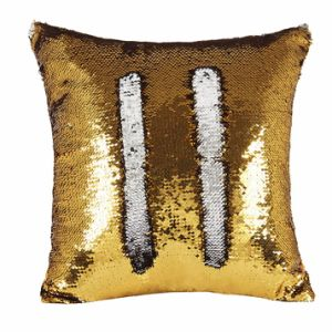 Cheap Sequin Mermaid Decorative Pillow with Cover pictures & photos