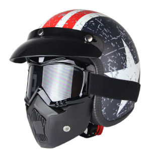 Half Face of Helmet with Mask pictures & photos