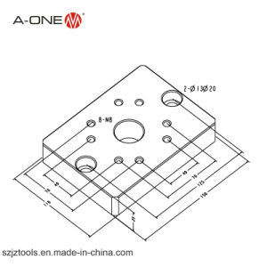CNC Accessories Quick Chuck for Wood Lathe with Base Plate 3A-100007 pictures & photos