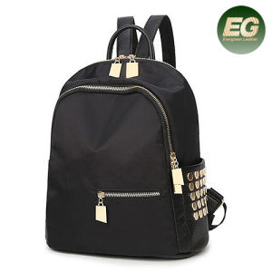 Newest Leisure Style Nylon Travel Backpack PU School Bag Wth Studded for Girls Sy8436 pictures & photos