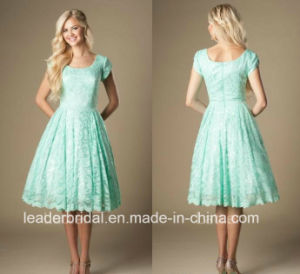 Minit Lace Short Cocktail Dress Knee Party Evening Dress M1708 pictures & photos