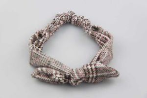 New Design Bow Knot Checked Cotton Fabric Elastic Hairband Fashion Accessory pictures & photos