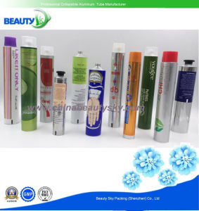 Cosmetic Packaging Hair Color Hand Cream Empty Aluminum Collapsible Tube pictures & photos