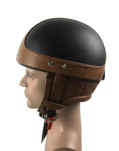 Half Face Helmet of Leather pictures & photos