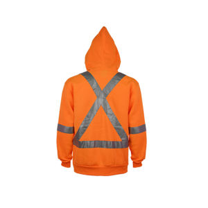 New Design Hivis Reflective Safety Hooded Sweatshirt pictures & photos