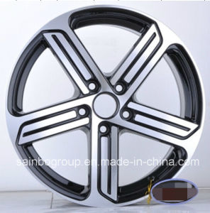 F9822 V W Gti Black Machine Face 16X7 17X7.5 Car Alloy Wheel Rims pictures & photos