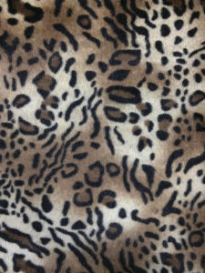 Leopard Discharge+Printing Faux Fur