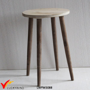 Country Handmade 3 Legs Pear Shaped Top Wooden Accent Table pictures & photos