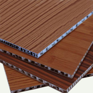 Wood Color Aluminum Honeycomb Panel Sandwich Panel pictures & photos