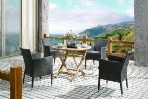 Outdoor Rattan Furniture Garden Chair Table Santika Seattle Round Wicker Dining Set (J6366) pictures & photos