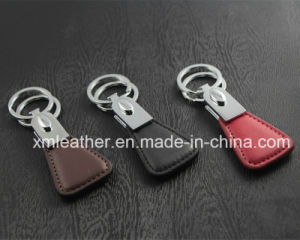 Fashion Leather Handmde Keychain Key Finder with Two Rings pictures & photos