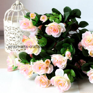 Fake Azalea Artificial Flower Bouquet with 11branches pictures & photos