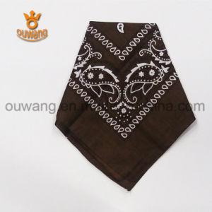 Fashion Design Cheap 100% Cotton Scarf Custom Design Square Bandana pictures & photos