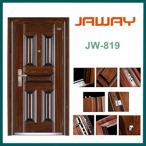 Factory Outlets Chinese Steel Security Door with Cheap Price pictures & photos