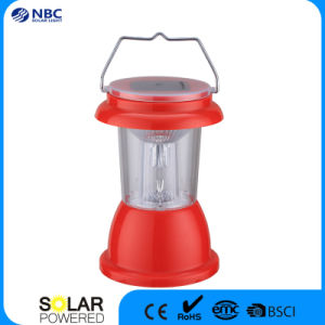 Red Plastic Solar Camping Lantern Emergency Light pictures & photos