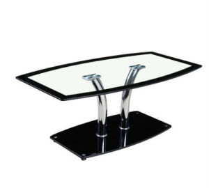 Modern Office Hotel Living Room Tempered Glass Metal Coffee Table