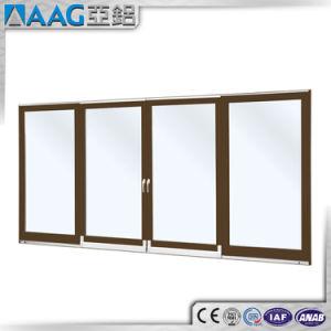 Double Glazing Aluminum Thermal Break Casement Doors pictures & photos