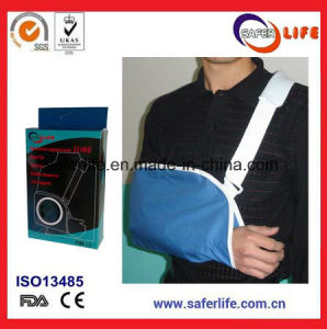 Resuable Medical Immobilizing Orthopedic Arm Support with Adjustable Shoulder Strip Arm Sling with Foam Ce FDA pictures & photos