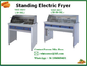 High Quality Commercial Stainless Steel Standing Electric Fryer pictures & photos