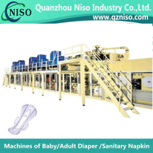 High Speed Automatic Whisper Sanitary Napkin Making Machine with Ce Certification pictures & photos