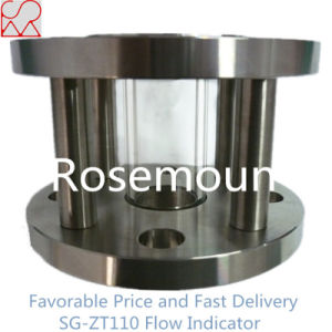 Flanged Full View Glass Cylinder Water Flow Indicator pictures & photos