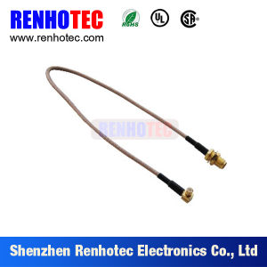 SMA Bulkhead Female to Ipex for Dia. 1.37mm Double Ended Coaxial Cable Assembly pictures & photos