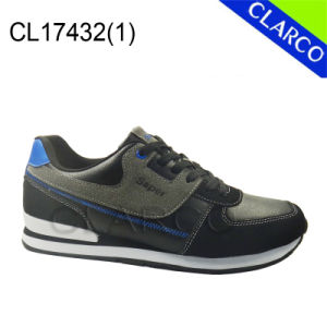 Synthetic Men Sports Sneaker Shoes with TPR Sole pictures & photos