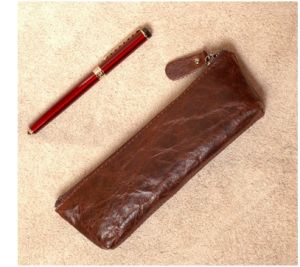 Hot Sell Handmade Leather Cases, Leather Pen Bag, Stationery Bag