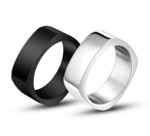 Black & Silver Men′s Ring Stainless Steel pictures & photos