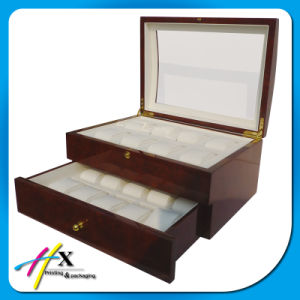 High Gloss 2 Layer Wooden Watch Storage Case with Window pictures & photos