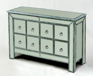 Elegant Clear Pure Bedroom Vanity Mirrored Multi Drawers Bedside Chest pictures & photos