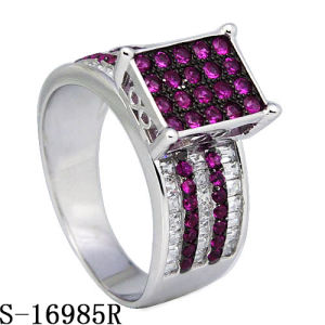 Hip Hop Jewelry Silver Ring with Two Tone Plated pictures & photos