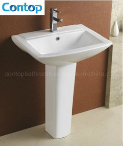 Sanitary Ware Hand Wash Pedestal Basin pictures & photos
