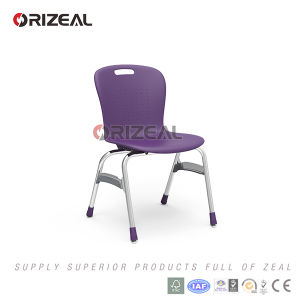 Orizeal School Furniture 2017 New Product PP Seat and Metal Leg School Chair pictures & photos