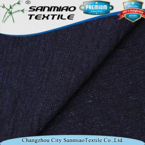 Indigo Slub Single Jersey Knitted Denim Fabric pictures & photos