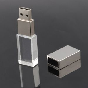 Mini Crystal USB Flash Drive 4GB 8GB 16GB 32GB 64GB Pen Drive USB Memory Stick Disk Pendrive 2.0 with Blue LED Light pictures & photos