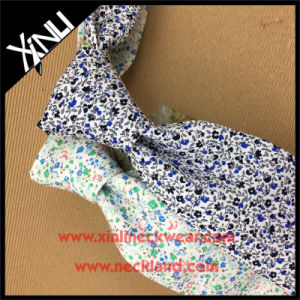 Handmade Popular Floral Printed Slim Cotton Tie pictures & photos