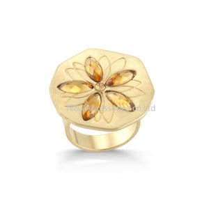 Fashion Gold Color Handmade Ring Fresh Lotus Flower Ring for Girl Women Jewelry pictures & photos