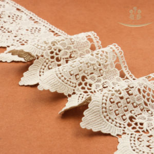 L30012 Hot Sale Water Soluble 100 Cotton Lace for Lingerie pictures & photos