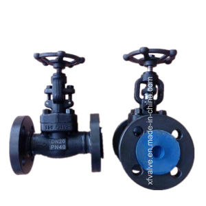 DIN Forged Carbon Steel A105 Flange Connection End Globe Valve
