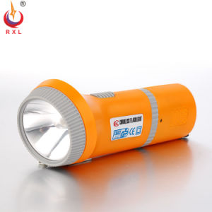 LED Rechargeable Ni-MH Battery Plastic FT-018e LED Flashlight