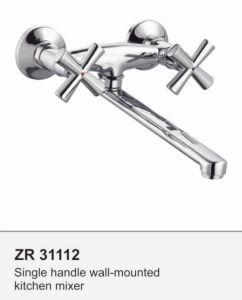 Zr31112 Dual Handle Sink Faucet Kitchen Basin Faucet