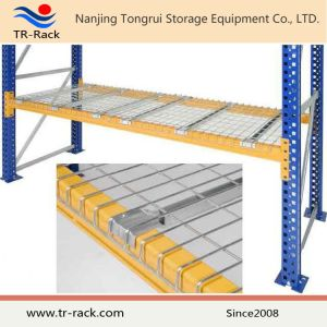Steel Wire Mesh Decking with Supported Pallet Racking pictures & photos