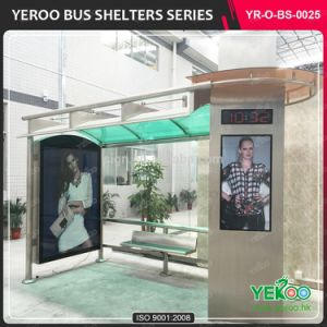 Modern Bus Stop Design Solar Bus Stop with Light Box pictures & photos