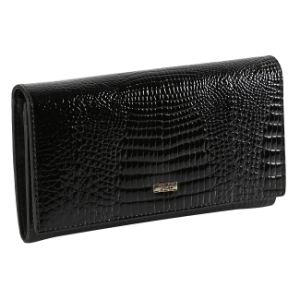 Black Crocodile Leather Cheque Book Holder Wallet Anti-Theft Alarm pictures & photos
