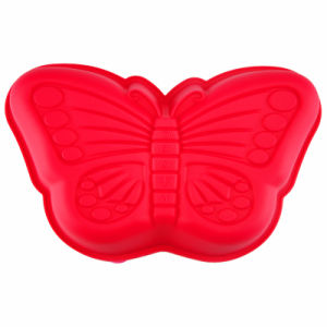 Red Butterfly Shaped Heat Resistant FDA Silicone Bakeware Baking Cake Pan pictures & photos