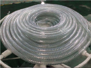 PVC Steel Wire Reinforced Spiral Pipe Plastic Prodution Making Machine pictures & photos