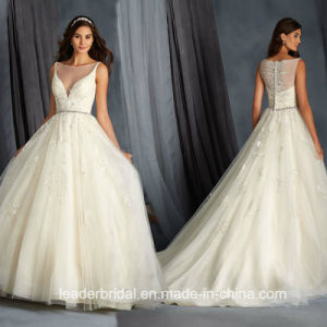 Plus Size Wedding Gowns Beading Custom A-Line Bridal Dresses G1774 pictures & photos