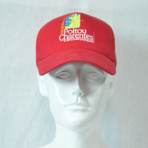 Red Cotton Baseball Cap with 3D Embroidered pictures & photos